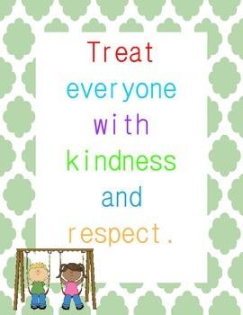 Classroom Rules Posters { Quatrefoil Border}