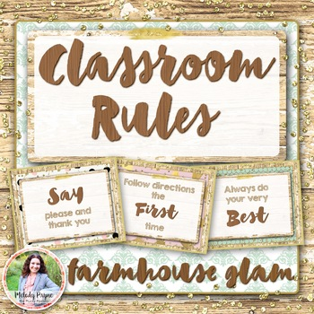 Classroom Rules Posters {Rustic Glam}