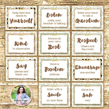 Classroom Rules Posters {Rustic Farmhouse Glam 8.5x11 Posters}