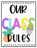 Classroom Rules Posters (Spanish Version also Included)