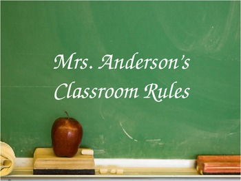 Classroom Rules Posters Special Ed.