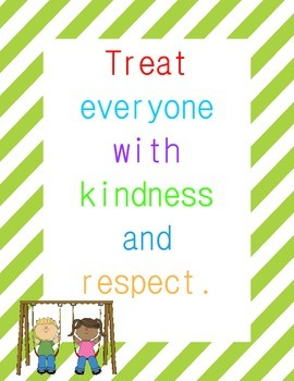 Classroom Rules Posters {Striped Border}