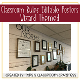 Classroom Rules Posters-Wizard Themed