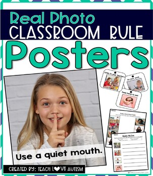Classroom Rules Posters and Activities with Real Photos