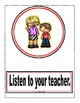 Classroom Rules Posters and Pennant Set (Red) Editable