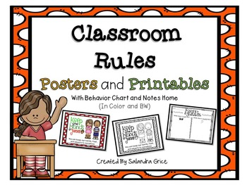 Classroom Rules Posters and Printables