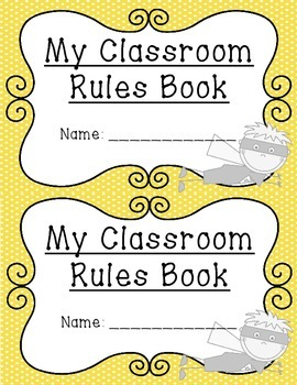 Classroom Rules ~ Posters and Student Books