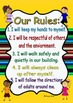 Classroom Rules Posters- child friendly or owls *includes blank posters*