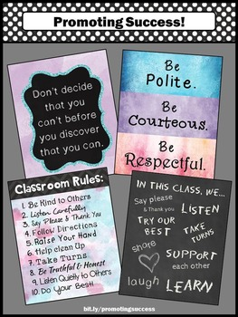 Classroom Rules Posters, Classroom Decorations Size 8x10 or 16x20