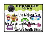 Classroom Rules Posters for Kindergarten pdf