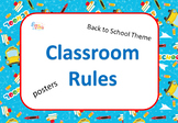 Classroom Rules Posters with Back To School Theme