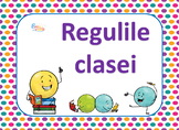 Classroom Rules Posters with Dots in Romanian, Regulile cl
