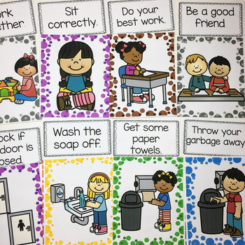 Classroom and Bathroom Rules- Posters/Anchor Charts