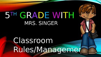 Classroom Rules PowerPoint- Fully Editable