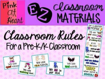 Classroom Rules - Pre-K/K