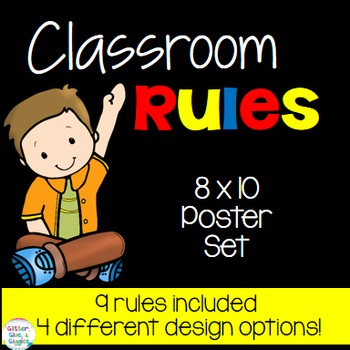 Classroom Rules {Primary Colors}