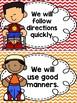 Classroom Rules {Primary Colors, Chevron}