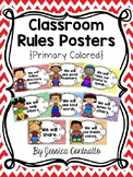 Classroom Rules: Chevron Primary Colors {Editable}
