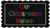 Classroom Rules (Primary colors)