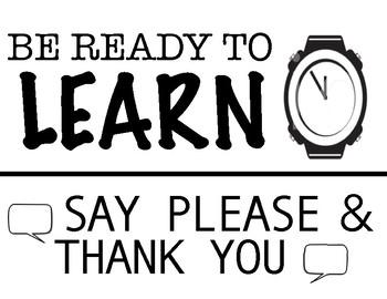 Classroom Rules - Printable