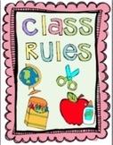 Classroom Rules Printable Templates