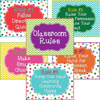 Whole Brain Teaching Classroom Rules Printables | TpT