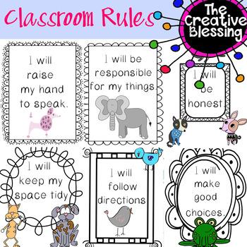 Classroom Decor Rules Printouts
