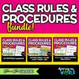 Middle School Class Rules & Procedures   BUNDLE   Posters,