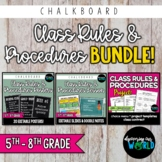 Classroom Rules & Procedures   BUNDLE   Posters, Slides &
