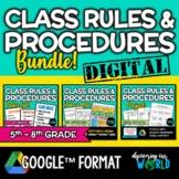 Classroom Rules & Procedures | BUNDLE | Posters, Slides &