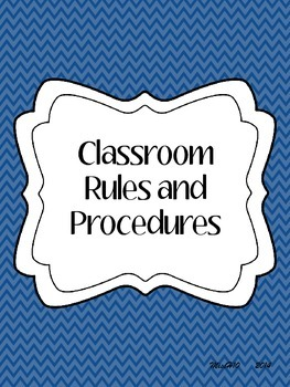 Classroom Rules & Procedures Packet
