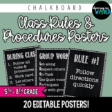 Middle School Classroom Rules & Procedures | Poster Set {C