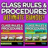 Classroom Rules & Procedures   ULTIMATE BUNDLE   Posters,