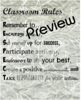 Classroom Rules (RESPECT)