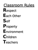 Classroom Rules - RESPECT