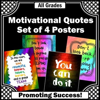 Rainbow Classroom Decor BUNDLE, Motivational Posters