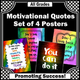 Rainbow Classroom Decor, Motivational Quote Posters Size 8x10 or 16x20