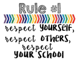 Classroom Rules (Rainbow Watercolor)