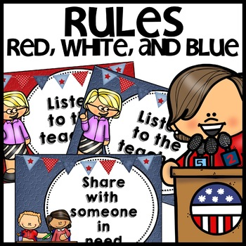 Classroom Rules (Red, White, and Blue themed)