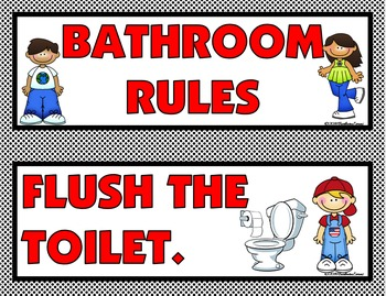 CLASSROOM RULES: Red & Black Edition