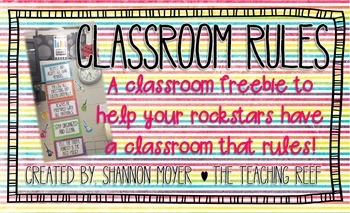 Classroom Rules Rock and Roll Theme