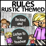 Classroom Rules (Rustic Themed)