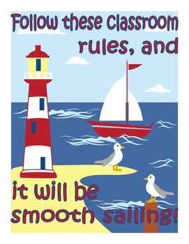 Classroom Rules: Sailing Theme