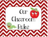 Classroom Rules - School Theme