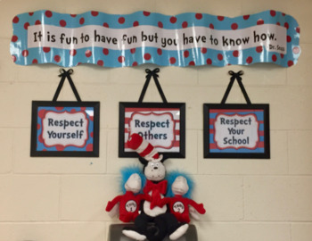 Classroom Rules Whimsical Red and Aqua - **Includes Two Editable Versions**