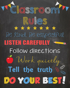 Classroom Rules Sign - PRINTABLE