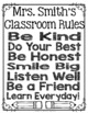 EDITABLE Classroom Rules Sign: Personalize with your own Name!