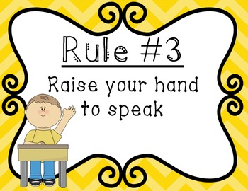 Classroom Rules Signs- Colorful Chevron