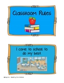 Classroom Rules Social Story