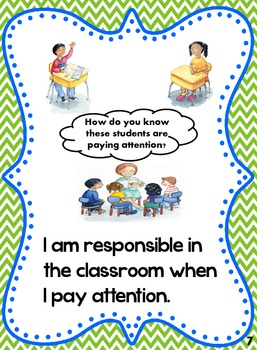 Classroom Rules Social Story: How to be Respectful, Responsible, Safe